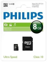 Philips MicroSDHC 8GB Class 10 FM08MP45B