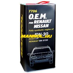 MANNOL 7705 O.E.M for Renault Nissan 5W-40 (5L)