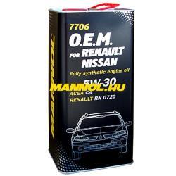 MANNOL 7705 O.E.M for Renault Nissan 5W-40 (5L)