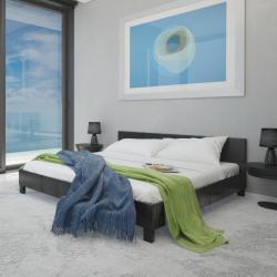 vidaXL Műbőr ágy matraccal 140x200cm