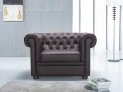 Beliani CHESTERFIELD - valódi bőr fotel
