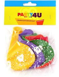 Party4U 4-es számos gumi lufi 5db