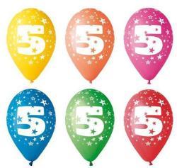 Party4U 5-ös számos gumi lufi 5db
