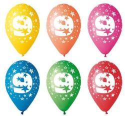Party4U 9-es számos gumi lufi 5db