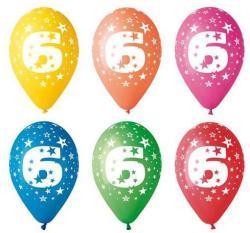 Party4U 6-es számos gumi lufi 5db