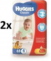 Huggies Classic 4 Mega Pelenka, 136 db