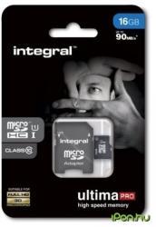 Integral MicroSDHC Ultima Pro 16GB INMSDH16G10-90U1