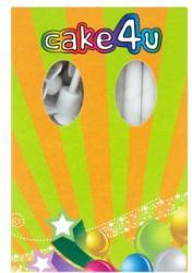 Cake4U Fehér születésnapi tortagyertya 15db