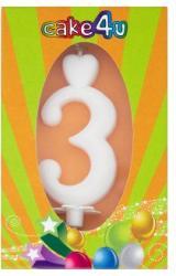 Cake4U 3-as születésnapi gyertya
