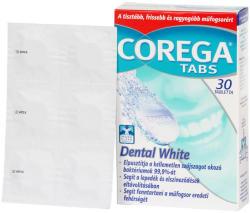 Corega Tabs Dental White műfogsortisztító tabletta 30db