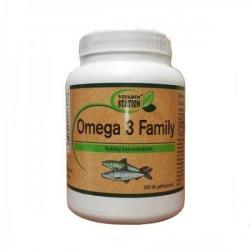 Vitamin Station Omega 3 Family kapszula - 200 db