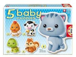 Educa Baby Puzzle - Állatok 5 az 1-ben