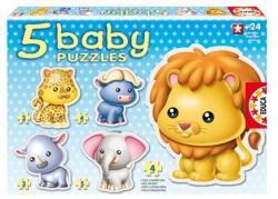 Educa Baby Puzzle - Vadállatok 5 az 1-ben