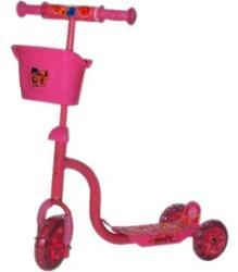 Háromkerekű kosaras roller - rózsaszín - jatekarak