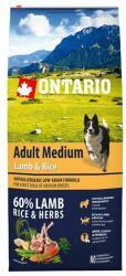 ONTARIO Adult Medium - Lamb & Rice 12kg
