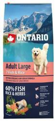ONTARIO Adult Large - 7 Fish & Rice 12kg