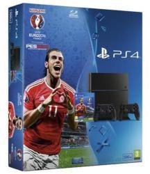 Sony PlayStation 4 Jet Black 500GB (PS4 500GB) + UEFA Euro 2016 PES Pro Evolution Soccer