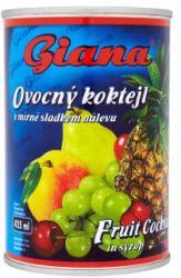 Giana Gyümölcskoktél konzerv enyhén cukrozott lében 410 g