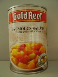 GOLD REEF Light gyümölcssaláta tiszta gyümölcslében 410 g