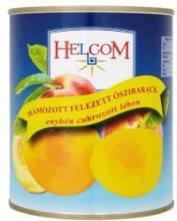 Helcom Őszibarack enyhén cukrozott lében (hámozott, felezett) 820 g