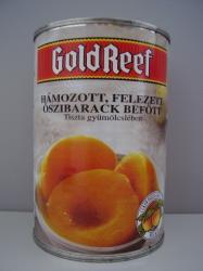 GOLD REEF Őszibarack konzerv (befőtt, kompót) cukor nélkül 410 g