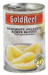GOLD REEF Felezett vimoskörte konzerv (befőtt, kompót) cukor nélkül 410 g