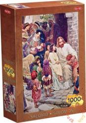 TACTIC Solomon puzzle - Jézus gyerekeket áld 1000 db-os (40073)