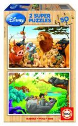 Educa Disney állatok 2x50 db-os fa puzzle (13144)