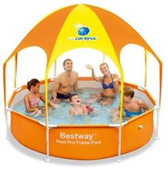 Bestway Piscina Steel Pro cu Acoperis UV Careful 56432