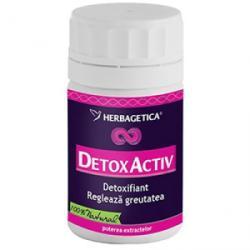 Herbagetica Detox Activ - 30 comprimate