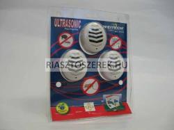 WEITECH Elektromos, ultrahangos kártevő elriasztó 3x45m2