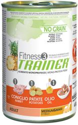 TRAINER Fitness 3 Adult Medium & Maxi - Rabbit & Potato 12x400g