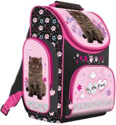 UNIPAP My Little Friend - fekete cicás, ergonomikus iskolatáska (241314)