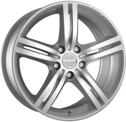 Mak Veloce Silver CB72 4/100 16x6.5 ET40