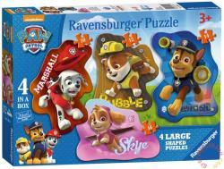 Ravensburger Sziluett Puzzle - Mancs őrjárat 4 az 1-ben (07032)