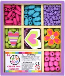 Bead Bazaar Mini gyöngykészlet fa dobozban - édes süti