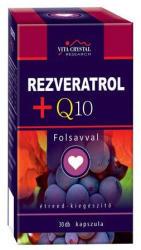 Vita Crystal Rezveratrol+Q10+Folsav kapszula - 30 db