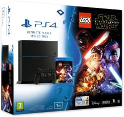 Sony PlayStation 4 Jet Black 1TB (PS4 1TB) + LEGO Star Wars The Force Awakens