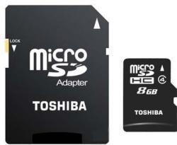 Toshiba MicroSDHC 8GB Class 4 SD-C08GJ(BL3A