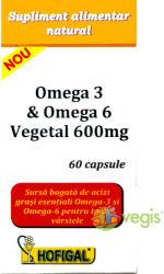 Hofigal Omega 3 & Omega 6 Vegetal 600mg - 60 comprimate