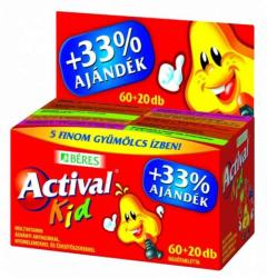 BÉRES Actival Kid Multivitamin rágótabletta - 60db+20db