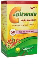 Nature's Prime C-vitamin 500mg kapszula csipkebogyóval - 60 db