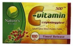 Nature's Prime C-vitamin 500mg kapszula csipkebogyóval - 100 db