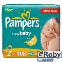 Pampers New Baby 2 Mini (3-6kg) 108db