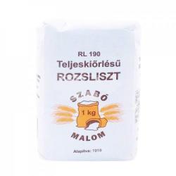 Szabó Malom Teljeskiőrlésű rozsliszt (RL-190) 1kg