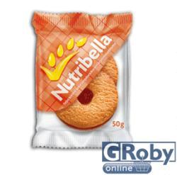 Nutribella Teljes Kiőrlésű Sárgabarackos-Almás Keksz (50g)