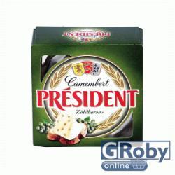 PRÉSIDENT Camembert Zöldborsos Sajt (90g)