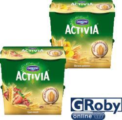 Danone Activia gyümölcsjoghurt teljes kiõrlésű gabonával 4 x 125g