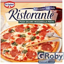 Dr. Oetker Ristorante gyorsfagyasztott szalámi-mozzarella-pesto pizza 320g