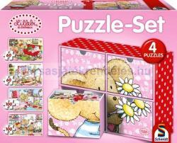 Schmidt Spiele 4 az 1ben Puzzle-Set - Lillebi 2x60 és 2x100 db-os